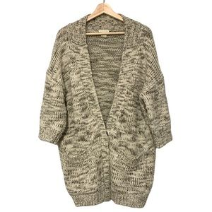 Club Monaco Oversized Marled Wool Blend Cardigan
